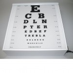 Vision chart, letters