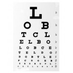 Synstavle til lyskasse, retvendt bogstaver