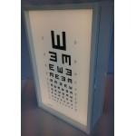 Lyskasse m. LED-lys, 40x65 cm, plads til 2 tavler
