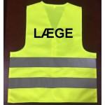 """Refleksvest med """"LÆGE"""" logo"""