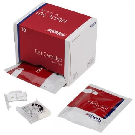 Hba1c hemocue testkasetter, 10 stk.