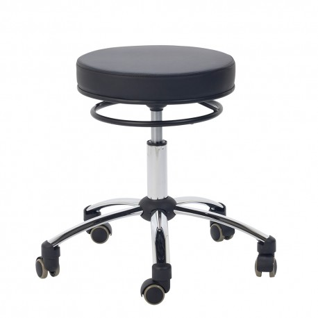 Stool with release ring, black