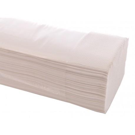 2-lags håndklædeark 25x23 cm, hvid, 4000 ark.