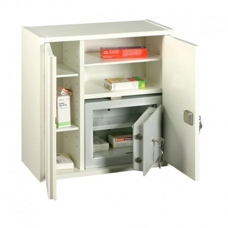 Medicinskab, opbevaring, m. box.