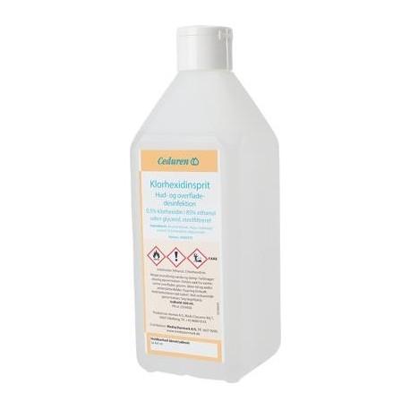 Klorhexidinsprit 0,5%, uden glycerol, 600 ml, ufarvet
