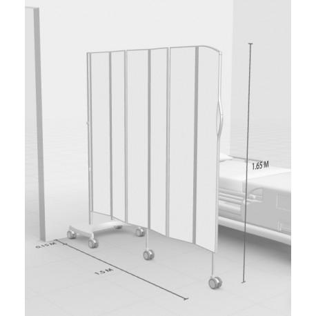 Silentia - Mobilskærmvæg, L: 1,50m H: 1,65m, 6 paneler, hvid