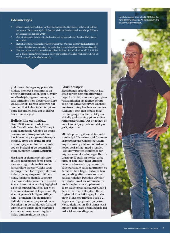 Odense Erhvervsservice - artikel MEDshop.dk