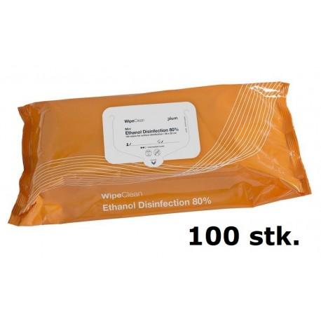 Ethanol Disinfection 80% mini 20x20 cm, 100stk.