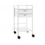 Klinikbord, Auxilio Mini , 40 cm bred, 2 skuffer
