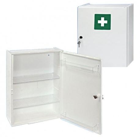 First-aid cabinet, plastic 31.5 x 42 x 15 cm, damaskwhite